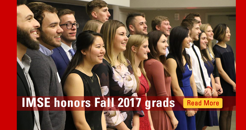 IMSE honors Fall graduates