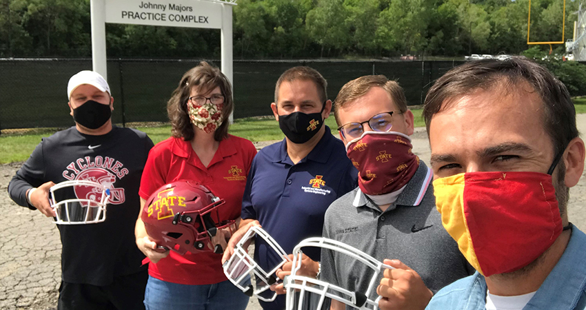 Engineers modify football helmet to reduce the spread of COVID-19