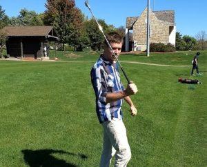 Eric golfing